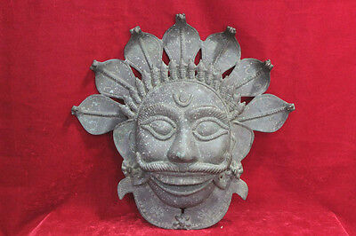 Old Iron Carving Mask Antique Vintage Home Decorative Collectible PW-88