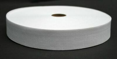 25 Meter Elastic Band 30 mm wide - White