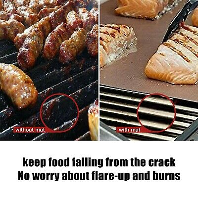 Outdoor Grill Mat Bbq Non Stick Reusable Fda Approved Baking Oven Barbecue