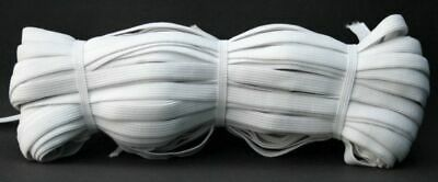 50 Meter Elastic Band 10 mm wide - White