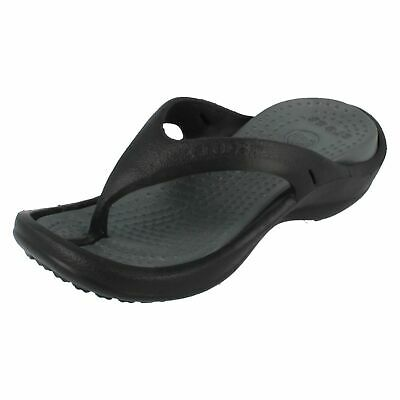 Kids Toe Post Croc Flip Flops- Kids Athens- Black/Charcoal Great Price.