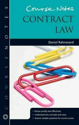Course Notes: Contract Law by Daniel Rahnavard (2014, Paperback)