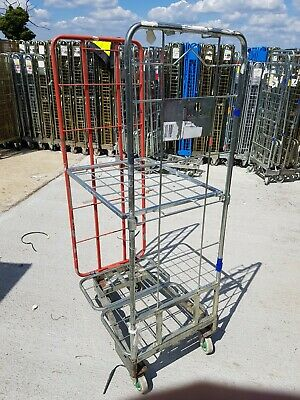 5 X THREE Sided Mesh Warehouse Roll Cage / Roll Container