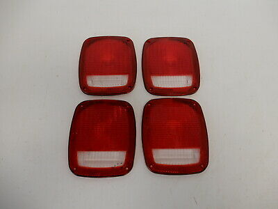 Grote 91302 Red Stop Tail Turn Replacement Lenses 4 Pack
