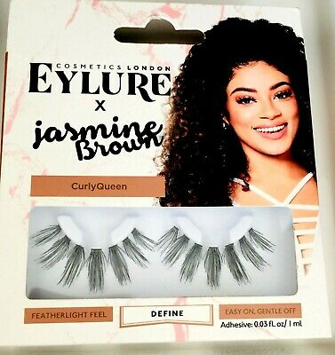 606d2a142a1 100% Authentic Eylure X London Jasmine Brown Lashes Reusable Black Curly