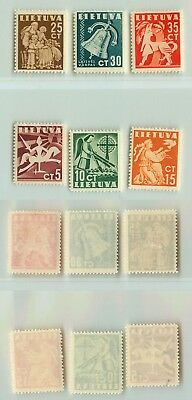 Lithuania  1940  SC  317  322  mint. f1014
