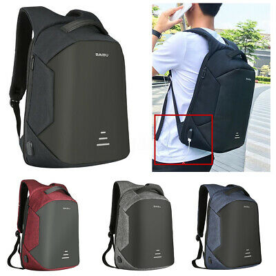 16'' Anti-theft Waterproof Mens Laptop Backpack Travel Shool Bag With USB Port