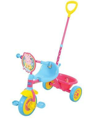 Peppa Pig My First Trike Kids RideOn Pedal Toy Boys Girls Tricycle Parent Push
