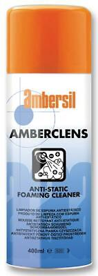 Ambersil Amberclens Anti-Static Foaming Cleaner 400ml Removes Grease and Dirt