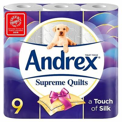 Andrex Supreme Quilts Cushioned Softness Toilet Tissue 9 per pack, 2 Pack