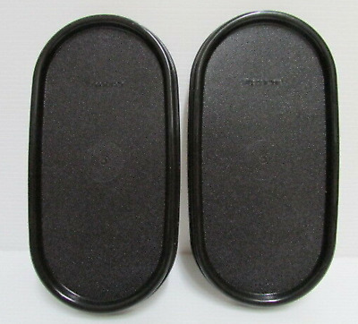 TWO Tupperware Modular Mates Oval seals Black Replacement Lids #1616 Brand New