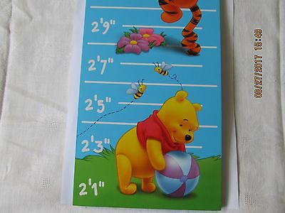 Disney Winnie The Poo And Friends Tigger Piglet Kids Wooden Growth Height Chart
