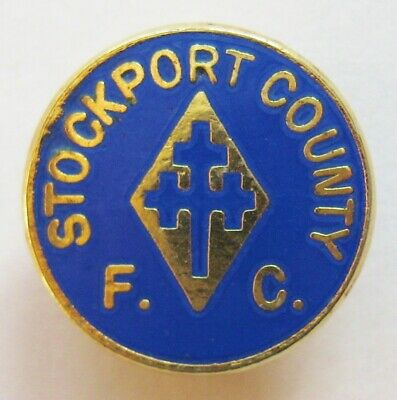 STOCKPORT COUNTY - Excellent Vintage Enamel Football Pin Badge