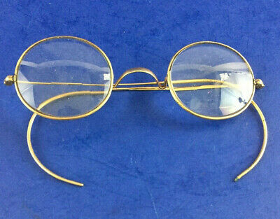 Vintage 12K GF Gold Filled Round Wire American Optical AO Lloyd Eyeglasses