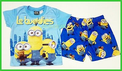 Despicable Me Minion boys girls Pyjamas kids tshirt top shorts pajamas sleepwear
