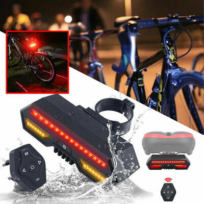 LED Bike Bycicle Tail Wireless Rear Light Turn Signal Indicator Remote Control