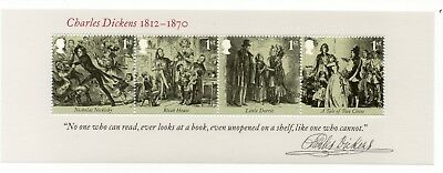 GB 2012 Charles Dickens unmounted mint mini / miniature sheet MNH stamps m/s