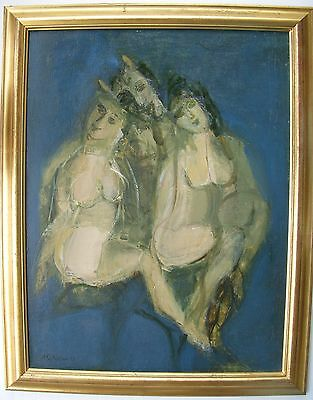 ARMENIAN ART GALLERY,Oil Painting,SATYR & NYMPHS by HENRY ELIBEKIAN,Armenia 1998