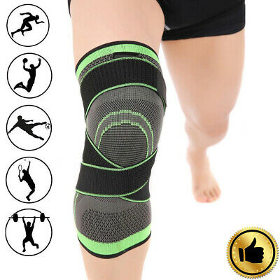 3D Weaving Knee Brace Pad Support Protect Compression Breathable Running Gym GA