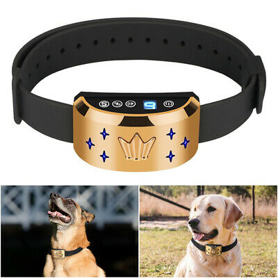 Rechargeable Pet Dogs Collar Anti-Bark Collar Flash+Beep+Vibration/Shock Modes
