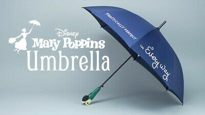 Disney Mary Poppins Umbrella Adult New with Parrot Head Practically Perfect