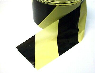 Barrier tape. Black & Yellow. Hazard. Warning. Non adhesive. *Top Quality!