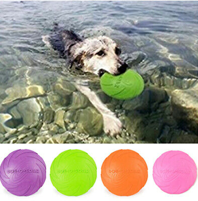 Dog Toys Fashion Outdoor Portable Frisbee Float Dog Frisbee Rubber Pet Dog BPA