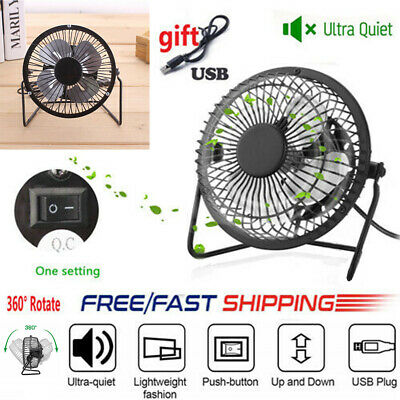 USB Ventilateur Mini Bureau Table Portable Silencieux Ordinateur PC Inclinable*