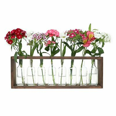 Rustic, Vintage, Hydroponic Flower Vase Bud, Pots, Wooden Propagation Stand Rack