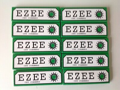 Ezee Rolling Papers Cigarette Papers Smoking Cut Corners X 10 Packs