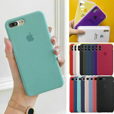 Original Coque Silicone Pour Apple iPhone X XR XS Max 8 7 6 6s Plus Étui Souple