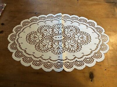 "BRAND NEW & UNOPENED PACK OF OVAL WHITE 12"" x 18"" 100% POLYESTER PLACEMAT"
