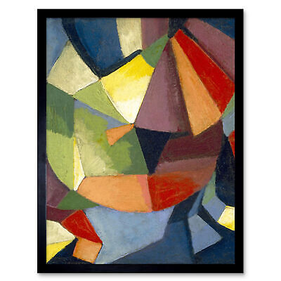 Russell Synchromy Abstract Synchromist Painting Wall Art Print Framed 12x16