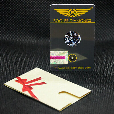 Real natural round cut diamond 2 mm set in card with certificate