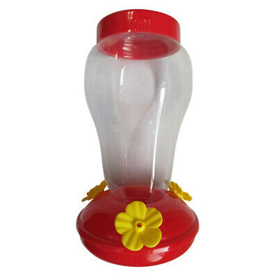 Garden Plastic Pet Hummingbird Bird Water Feeder Bottle Hanging Bowl with a Hook