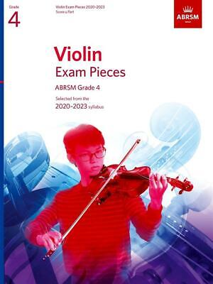 ABRSM Violin exam pieces 2020 - 2023 Score & Part Grade 4