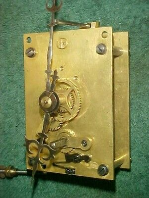 Original Lenzkirch Time Only Wall Clock Movement With Original Hands Runs Exc.