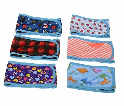 BWOGUE Dog Belly Band (Pack of 4) Puppy Diapers with Velcro Washable Reusable