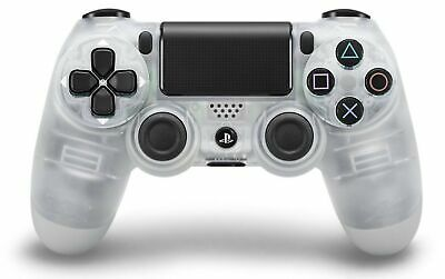 Sony DualShock 4 Wireless Controller for PlayStation 4, 3.5mm Jack, Crystal NEW
