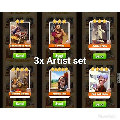 Coin master cards. New set CIRCUS cards pack. 4 cards in photo. Fast delivery.