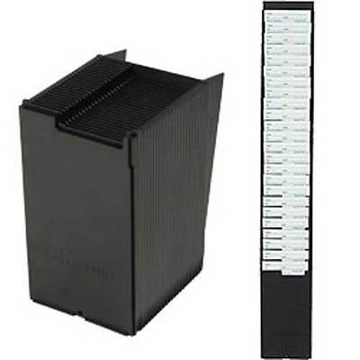 25 pocket time card wall rack, fits up to 4.375 inch wide, 8+ inch long cards
