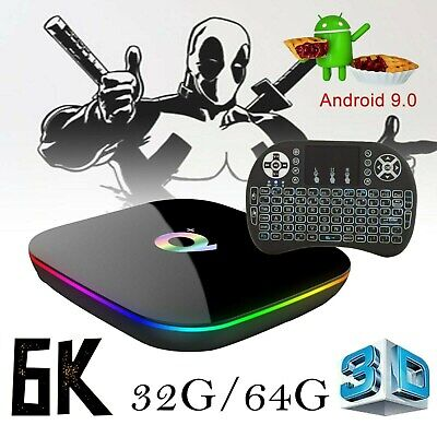 TV BOX Q PLUS 6K MAX 4GB 64GB ANDROID 9.0 4K TV BOX WI-FI IPTV 4 CORE WIFI +tast