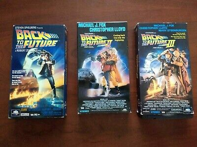 3 Vhs Michael J Fox Movies Back To The Future 1-2-3