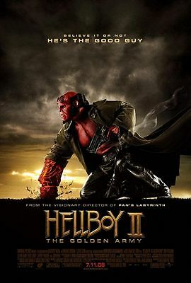 Hellboy 2 Golden Army - original DS movie poster - 27x40 D/S Glossy 2008