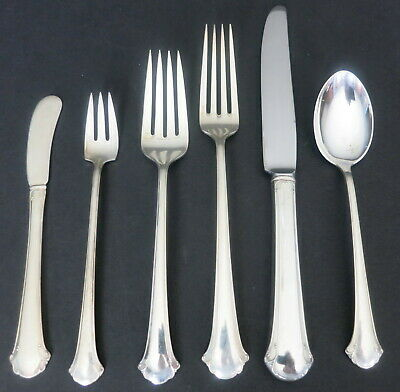 Towle Chippendale Sterling Silver 6 Pc Plate Setting 3 Forks 2 Knives 1 Spoon