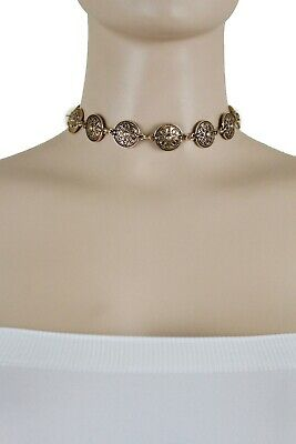 De Mujer Rusty Oscuro Metal Dorado Fashion Jewelry Set Gargantilla Collar