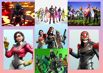 Fortnite: Avengers, Vendetta, Battle Royale  A5 A4 A3 Textless Movie DVD Posters