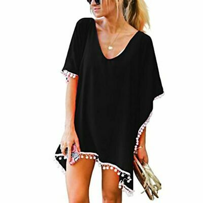 Beach Dress L:adies Swim Wear Durable Outdoor Chiffon Loose Trim Bikini Cover Up