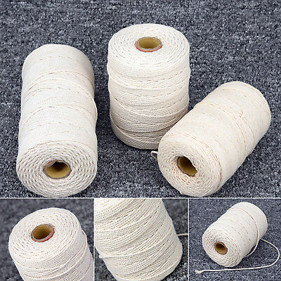 New Cotton Twisted Cord Rope Crafts Macrame Artisan String Woven DIY 1mm-3mm