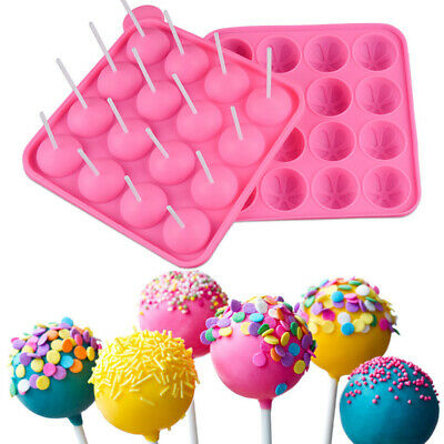 Silicone Lollipop Cupcake Baking Mold Tray Cake Stick Mould Baking Tool Rose Red